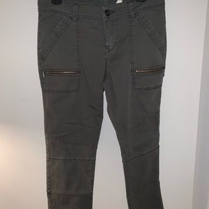 Pants - Cropped Dark Grey Utility Pants